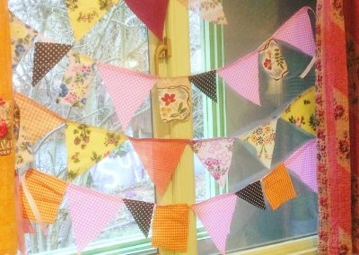 Bunting made by 8 year olds