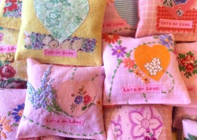 Lots of lovely lavender bags. I dye a lot of my fabric